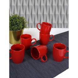 Keramika 6'lı Bulut Kırmızı Bayrak Kupa - 9 cm
