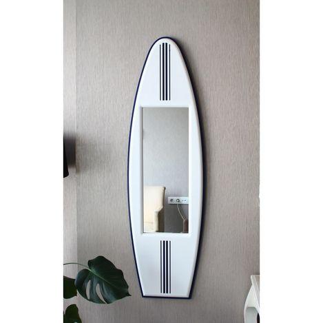 Limbo LMB-1308 Sörf Duvar Aynası (Beyaz) - 132x38,5 cm