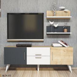 House Line Only Tv Ünitesi - Beyaz/Safir/Antrasit
