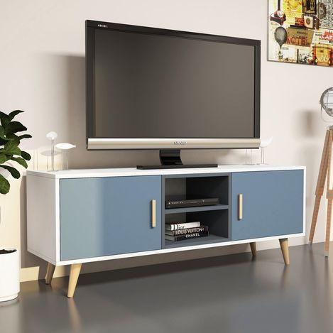 Resim  House Line Safir Tv Ünitesi - Beyaz/Antrasit/Kalsedon