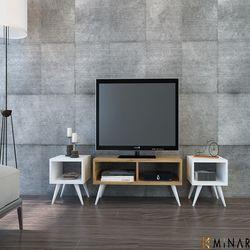 House Line Vinca Tv Sehpası - Beyaz/Safirmeşe