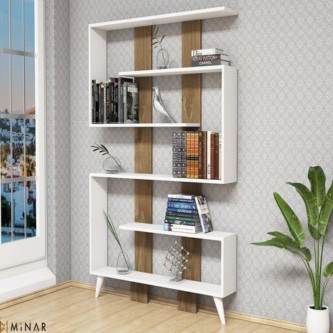 Resim  House Line Jane Kitaplık - Beyaz-İstanbul