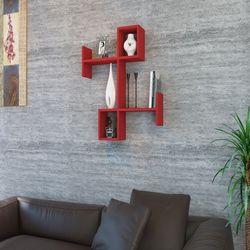 House Line Burç Duvar Rafı - Kırmızı