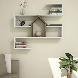 House Line Nest Duvar Rafı - Beyaz/Ceviz