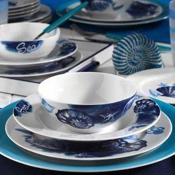 Kütahya Porselen Marine serisi 24 Parça 9332 Desen Yemek Seti