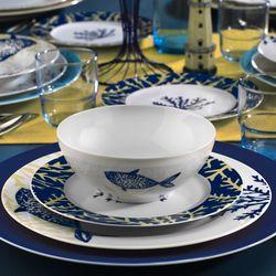 Kütahya Porselen Marine Serisi 24 Parça 9347 Desen Yemek Seti