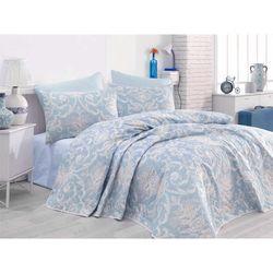 Eponj Home Tuval Tek Kişilik Yatak Örtüsü Takımı - Mavi