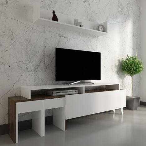 Arnetti Tango Tv Ünitesi - Beyaz/Ceviz