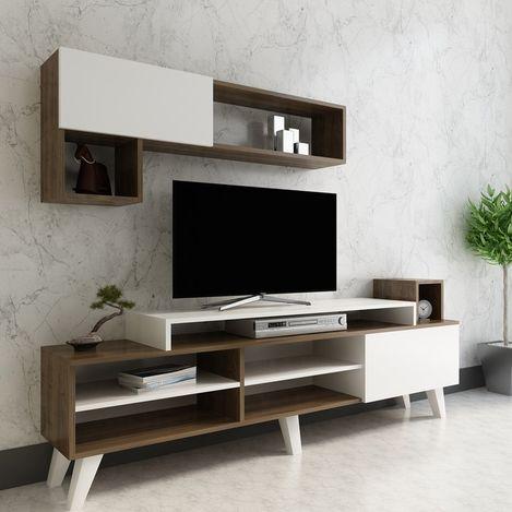 Arnetti Alfa Tv Ünitesi - Beyaz/Ceviz
