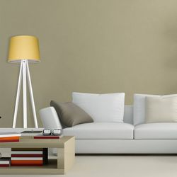 Modelight Deko Beyaz Ayak Tripod Lambader - Sarı