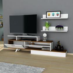 Arnetti Milon Tv Sehpası - Beyaz/Ceviz