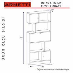 Arnetti Tutku Kitaplık - Beyaz/Ceviz