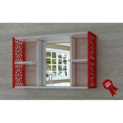 Remaks Aynalı Duvar Rafı - Kırmızı