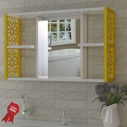 Remaks Aynalı Duvar Rafı - Sarı