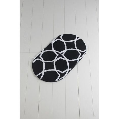 Chilai Home Bonne Oval Banyo Halısı (Siyah) - 60x100 cm