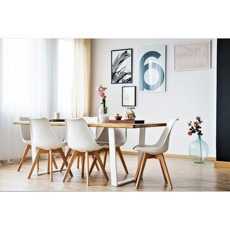 Resim  222 Concept Masif CPT7008-200 Ağaç Yemek Masası - 200x75 cm