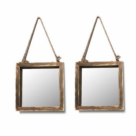 222 Concept Masif El Yapımı 2308-35 2li Duvar Aynası