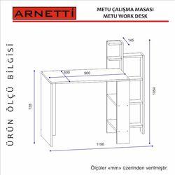 Arnetti Metu Çalışma Masası - Beyaz