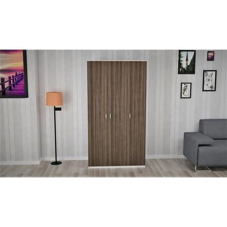 Ofisbazaar 3 Kapılı Gardırop - Beyaz/Koyu Safir