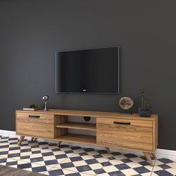 Rani A5 Duvar Tv Ünitesi Modern Ayaklı Tv Sehpası - Ceviz