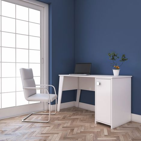 Resim  Rani C2 Dolaplı Çalışma Ve Bilgisayar Masası - Beyaz
