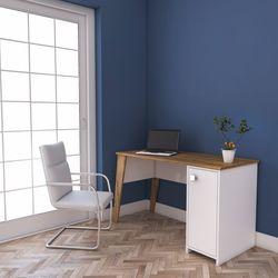 Rani C2 Dolaplı Çalışma Ve Bilgisayar Masası -Ceviz/Beyaz