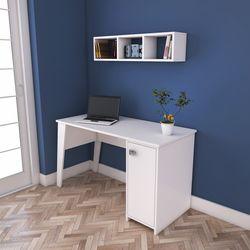 Rani C2 Kitaplıklı Dolaplı Çalışma Ve Bilgisayar Masası - Beyaz