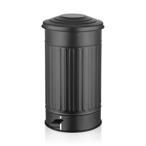 Çöp Kovası Orta - Siyah