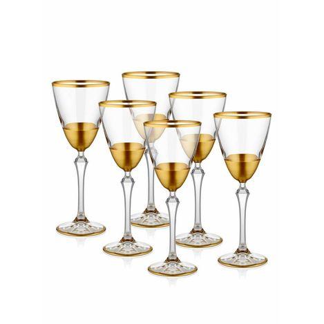 Resim  The Mia Glam Ayaklı Bardak 6 Parça - Gold
