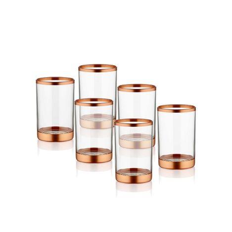 Resim  The Mia Glam Kahve Yanı Su Bardağı - Bakır