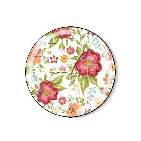 Resim  The Mia Duvar Saati - Floral C 35 Cm