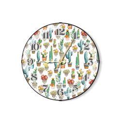 The Mia Cactus A Duvar Saati - 35 cm