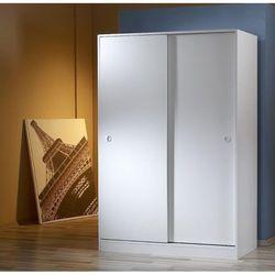 Mobusta Diba120 Sürgü Kapaklı Gardırop - Parlak Beyaz