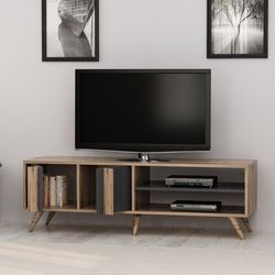 House Line Rilla Modern Tv Ünitesi - Tv Sehpası - Çırağan/Antrasit