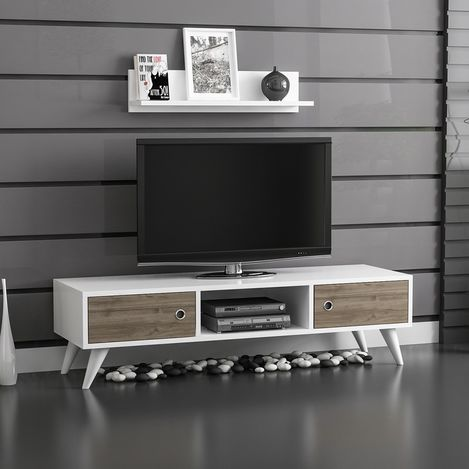 Minar Aspen Tv Ünitesi - Ceviz / Beyaz