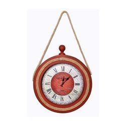 Atadan ATD35BR Halatlı Ahşap Dekoratif Saat - Bordo