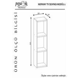 Pegai Norvay Sehpalı Dolaplı Tv Ünitesi - Beyaz 0123