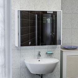 House Line Bade Asma 80 Cm Aynalı Dolap - Beyaz