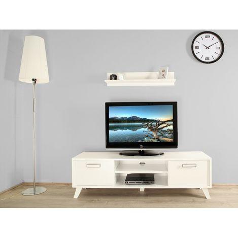 Ankara Mobilya Gama Beyaz 140 Cm Tek Raflı Tv Sehpası