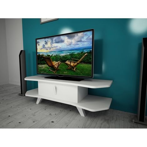 Ankara Mobilya Zet Aks Beyaz 120 Cm Tv Sehpası
