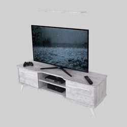 Ankara Mobilya Boreas Eskitme Beyaz 140 Cm Tv Sehpası