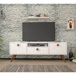 Ankara Mobilya Penta Beyaz  Ceviz 140 Cm Tv Sehpası