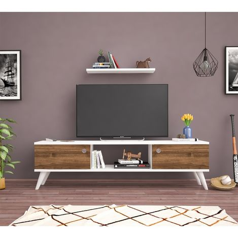 Bena Mobilya Emre Beyaz Haliç 140 Cm Tv Sehpası