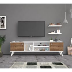 Bena Mobilya Poyraz Beyaz Haliç 160 Cm Tv Sehpası