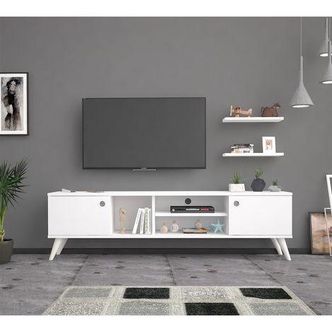 Bena Mobilya Benan Beyaz 180 Cm Tv Sehpası Tv Ünitesi