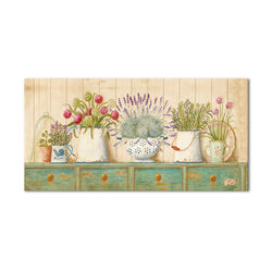 Doku Tablo Renkli Çiçekler  Kanvas Tablo