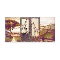 Manzara -Zürafa  Kanvas Tablo