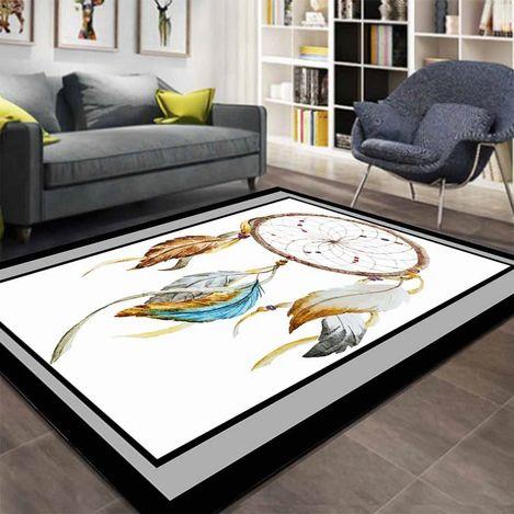 Else Kadser İskandinav Renkli Tüyler 3D Salon Mutfak Halısı - 150x230 cm