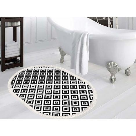 İpekçe Home D-266 Petunya Digital Banyo Paspası - 80x120 cm