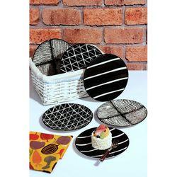 Just Home El Yapımı 6'lı Seramik Pasta Servis Seti